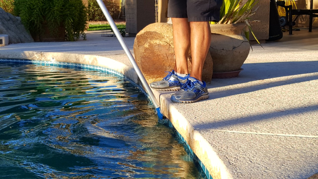 Specializing in calcium build-up on pool tiles!