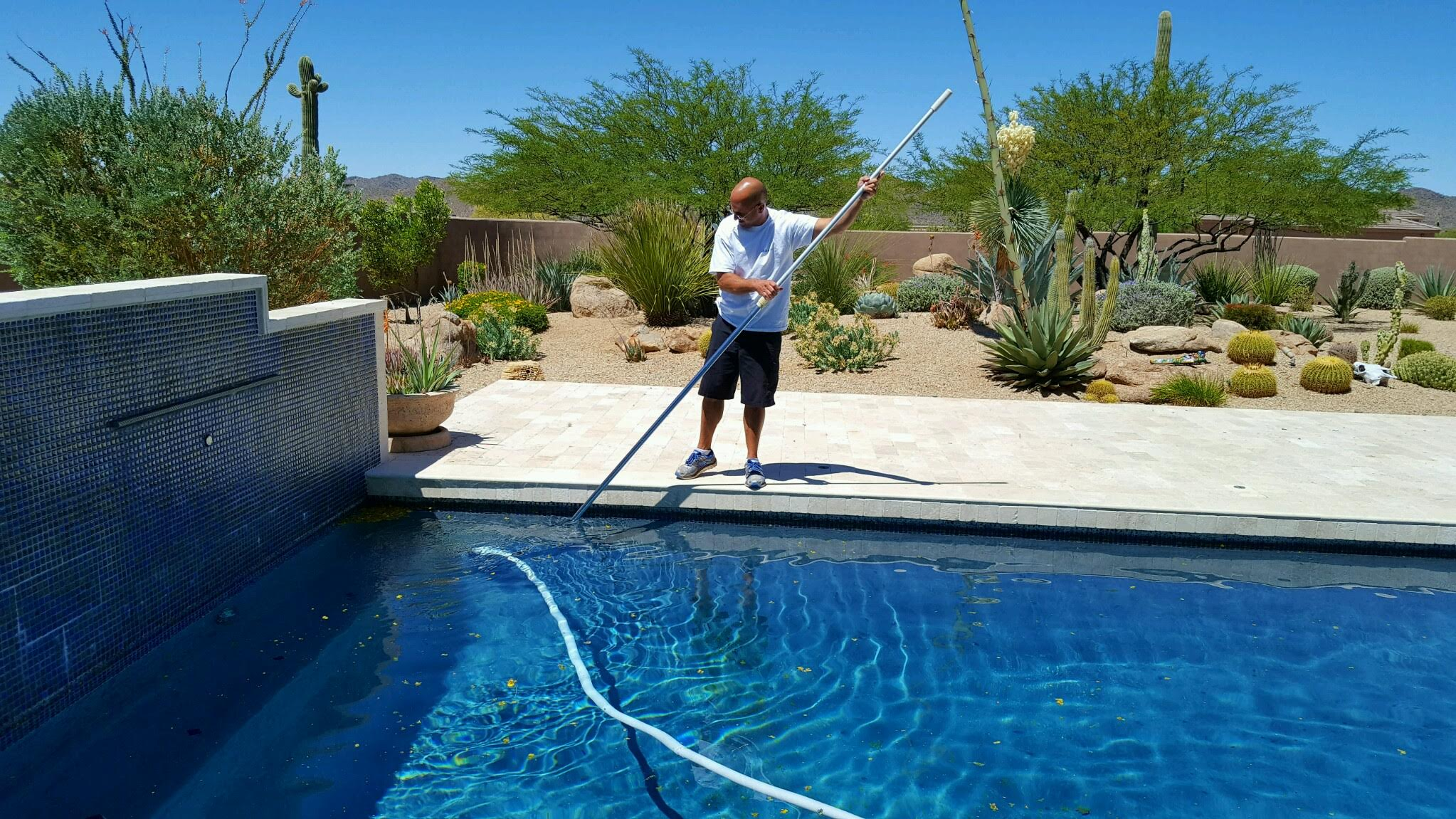 Brushing your pool is part of our 20 Point Inspection, which is done every visit!